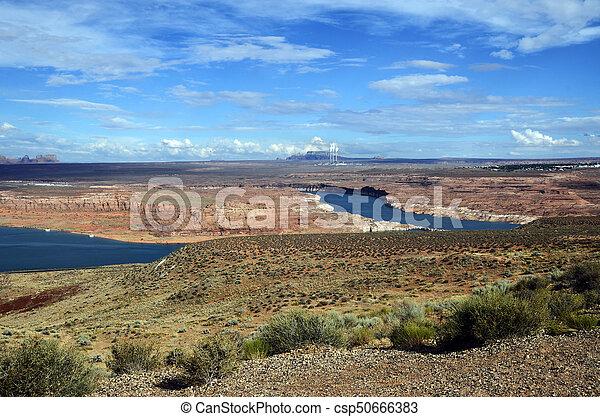 Lake Powell landscape, USA - csp50666383