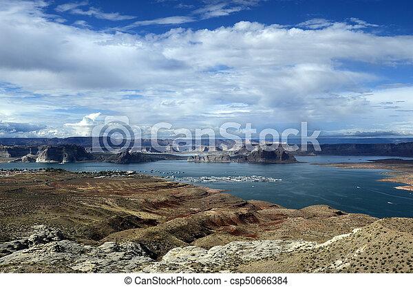 Lake Powell landscape, USA - csp50666384