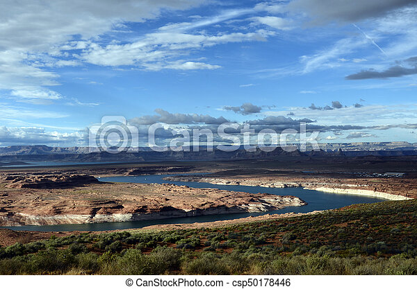 Lake Powell landscape, USA - csp50178446