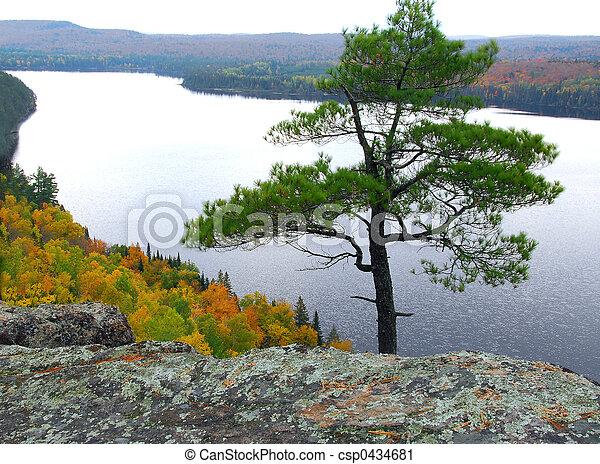Lake scenery - csp0434681