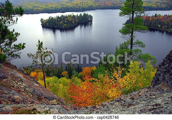 Lake scenery - csp0428746