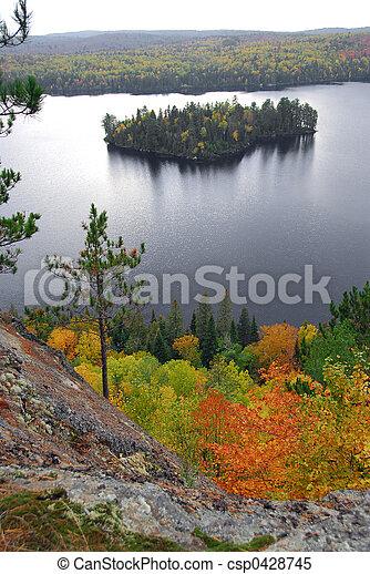 Lake scenery - csp0428745
