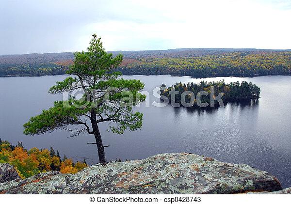 Lake scenery - csp0428743