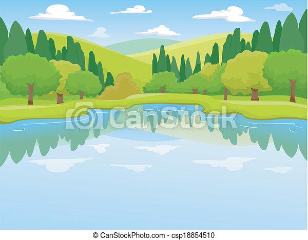 Lake Scenery - csp18854510