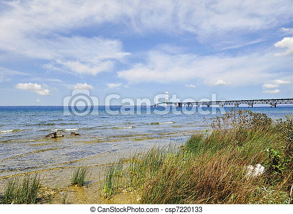 Lake shore of Mackinac  - csp7220133