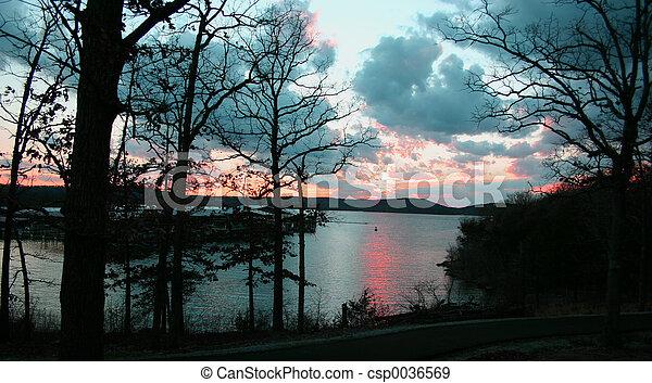 Lake sunset 2 - csp0036569