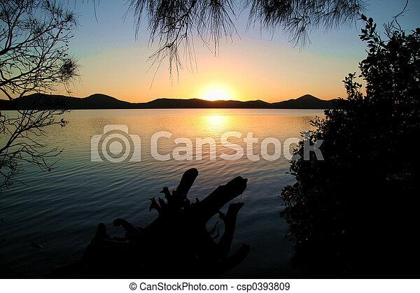 Lake Sunset - csp0393809