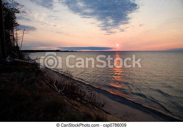 Lake Superior Sunset - csp0786009