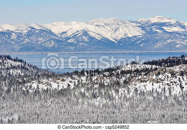 Lake Tahoe California in Winter - csp5249852