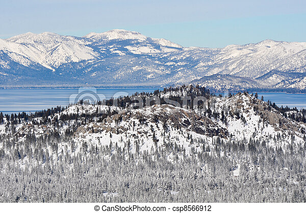 Lake Tahoe California in Winter - csp8566912