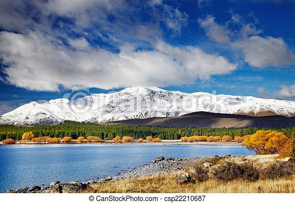 Lake Tekapo, New Zealand - csp22210687