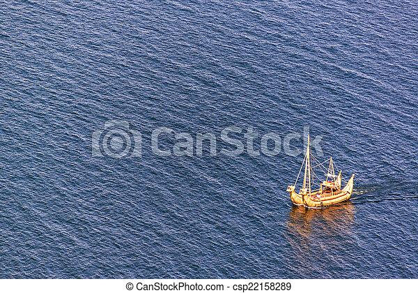 Lake Titicaca Reed Boat - csp22158289