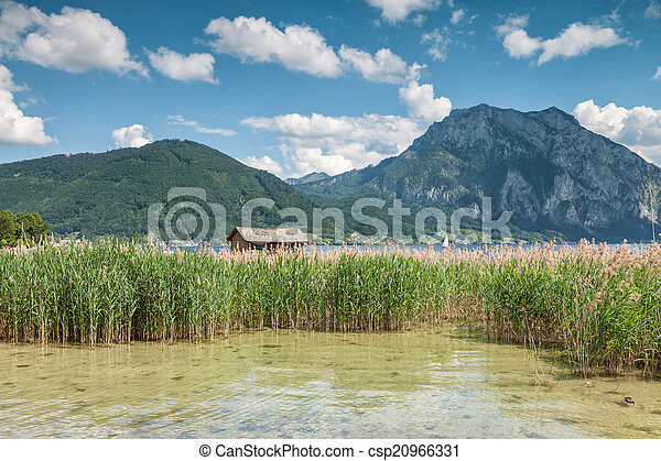 Lake Traunsee in Austria - csp20966331