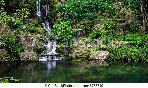 Lake waterfall - csp46765719