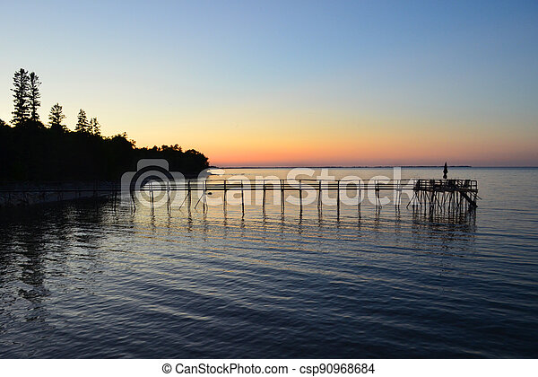 Lake Winnipeg Pier II - csp90968684