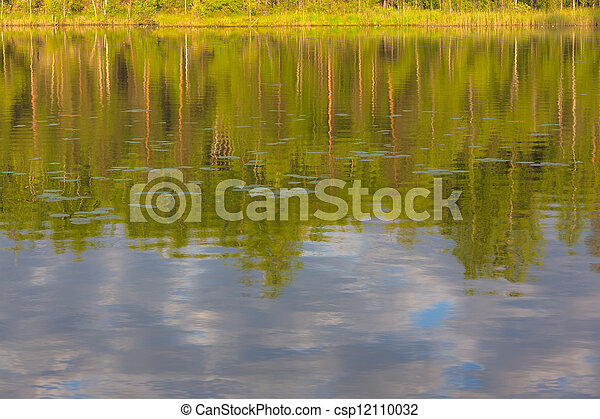 lake with reflections - csp12110032