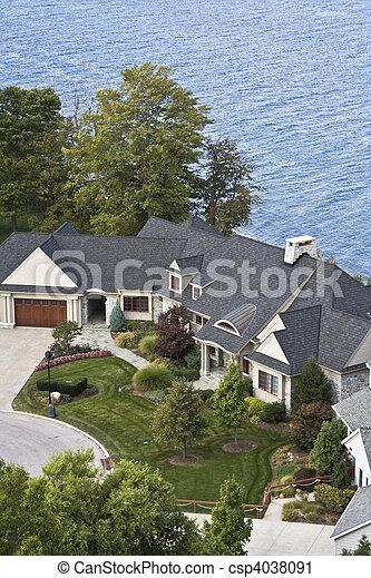 Lakefront residence - csp4038091