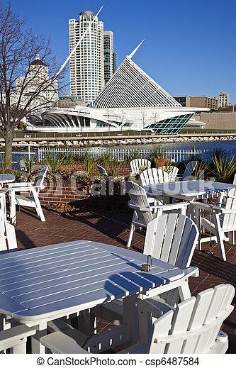 Lakefront restaurant in Milwaukee - csp6487584