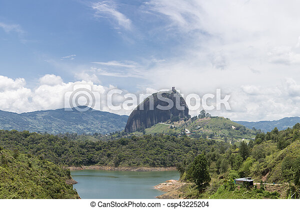 Lakes And The Piedra El Penol At Guatape In Antioquia Colombia