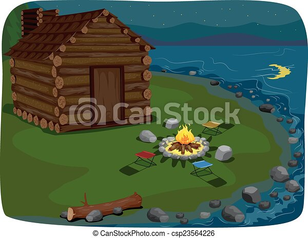 lakeside, cabine - csp23564226