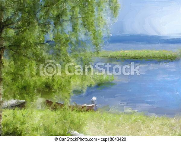 lakeside - csp18643420