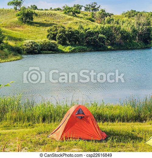 lakeside, terrain camping - csp22616849
