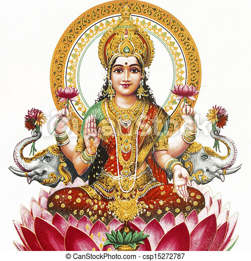 Lakshmi - Hindu goddess  - csp15272787
