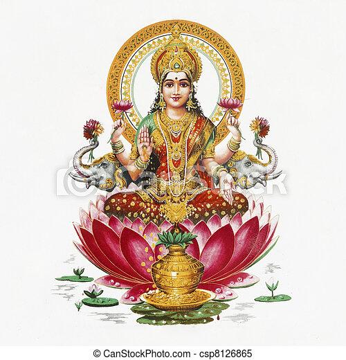 Lakshmi - Hindu goddess  - csp8126865