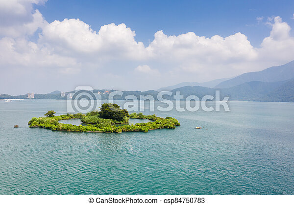 Lalu at famous Sun Moon Lake landscape - csp84750783