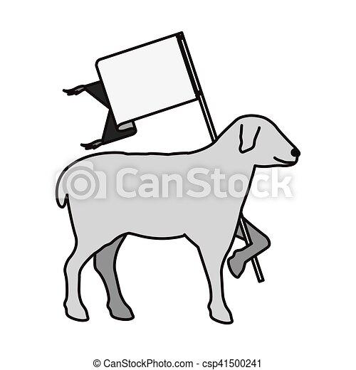 Lamb Of God Symbol Lamb Of God Christian Symbol Icon Over White