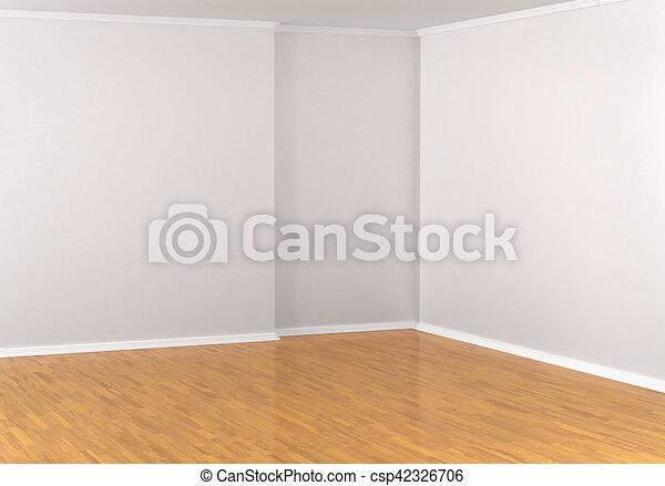 Laminat, Hartholz, Zimmer, Floor., Wände, Abbildung, Parkett, Ecke