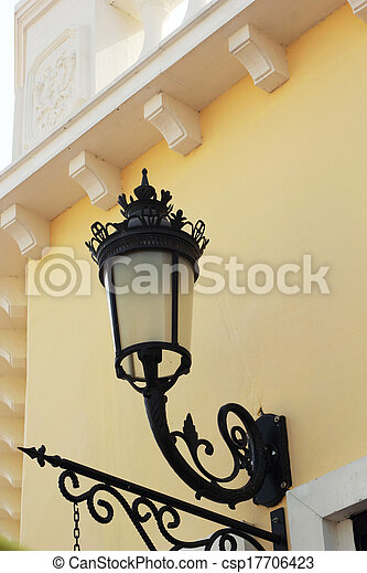 Lamp attached to a side wall. - csp17706423