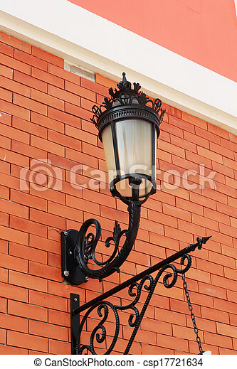 Lamp attached to a side wall. - csp17721634