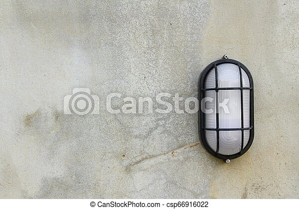 Lamp beside the brick wall vintage style - csp66916022