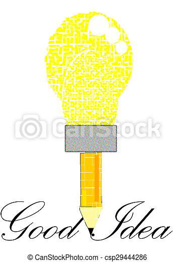 Lamp chimney of good idea - csp29444286