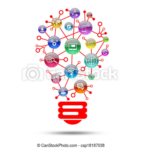 Lamp Consisting Of Apps Icons   Csp18187038