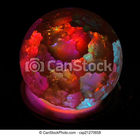 Lamp in the form of bright colored ball - csp21270658