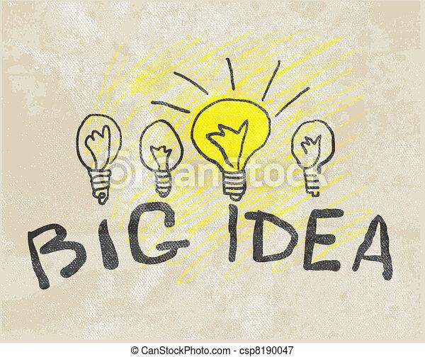 lamp., innovateur, idée, grand - csp8190047