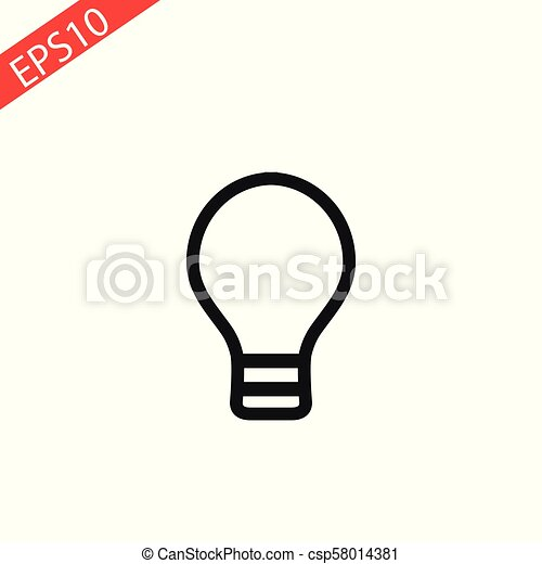 Lamp line icon on white background. Vector illustration. - csp58014381