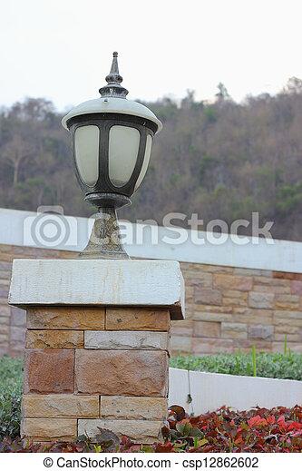 Lamp on a pole - csp12862602