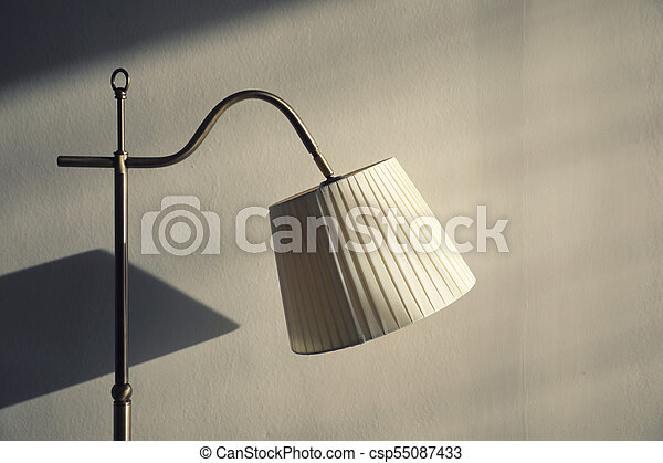 Lamp on wall background - csp55087433