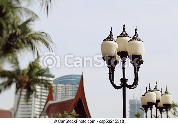 Lamp post vintage traditional - csp53215318