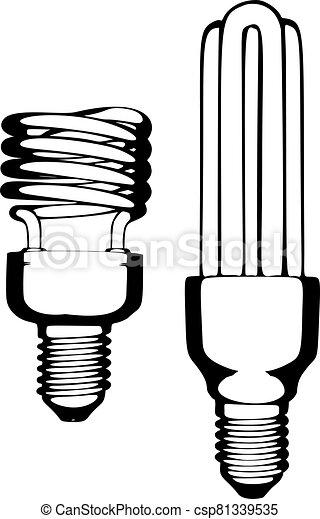 Lamp vector illustration on white background - csp81339535