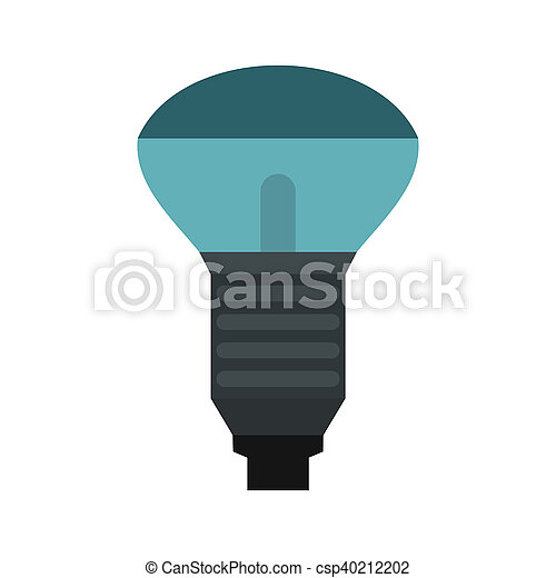 Lamp with blue light icon, flat style - csp40212202