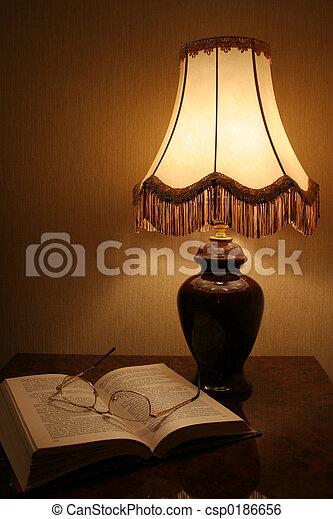 lampada, libro, & - csp0186656