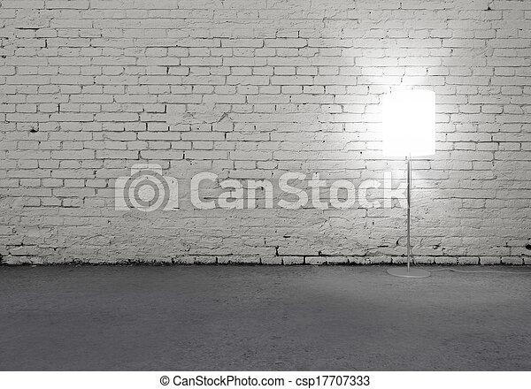 lampada, pavimento - csp17707333