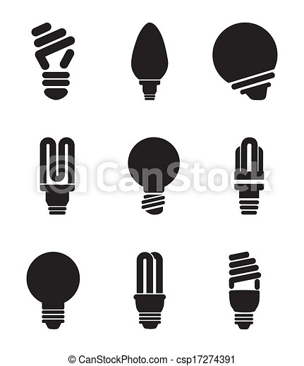 Lampadine Disegno Lampadine Sopra Illustrazione Vettore