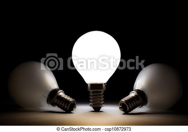 lampadine, luce, un po', morto, uno, bulbo - csp10872973