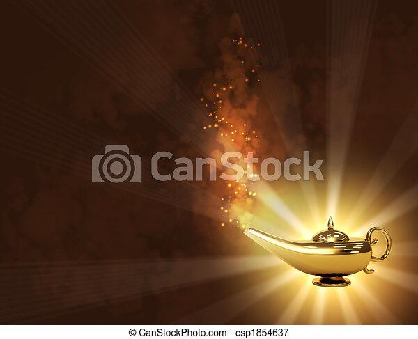 lampe, magie - csp1854637