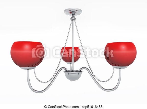 Lampe Plafond Rouges Lampe Plafond Illustration Isolé Engendré